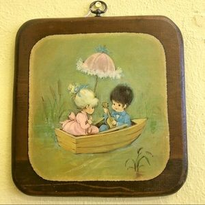 Vintage 1970s Hand Painted Wall Art